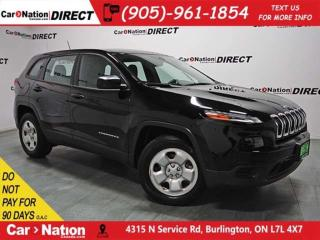Used 2017 Jeep Cherokee Sport| BACK UP CAMERA| 4X4| LOW KM'S| for sale in Burlington, ON