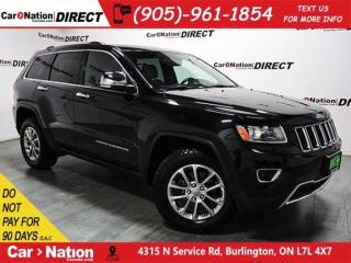 Used 2014 Jeep Grand Cherokee Limited| 4X4| SUNROOF| LEATHER| for sale in Burlington, ON