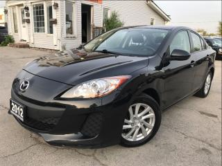 Used 2012 Mazda MAZDA3 GX Accident Free Bluetooth Low Mileage  for sale in Burlington, ON