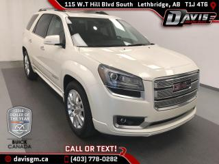 Used 2015 GMC Acadia Denali AWD, 7 PASSENGER, HEATED/COOLED LEATHER for sale in Lethbridge, AB