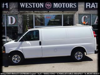 Used 2004 Chevrolet Express G1500*A/C*SHELVING*UNBELIEVABLE SHAPE*A MUST SEE!* for sale in York, ON