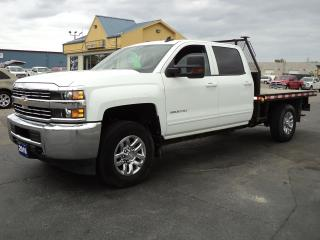 Used 2016 Chevrolet Silverado 3500 LT CrewCab 4X4 6.0L 9ft FlatBed for sale in Brantford, ON