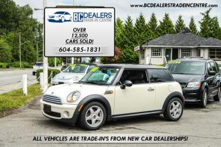 Used 2009 MINI Cooper Coupe, Dual Sunroof, Heated Leather Seats! for sale in Surrey, BC