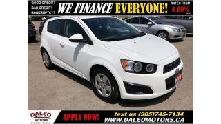 Used 2015 Chevrolet Sonic LS|MP3 CAPABILITY|CRUISE CONTROL for sale in Hamilton, ON