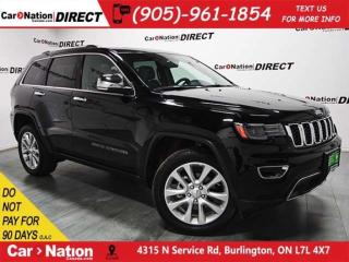 Used 2017 Jeep Grand Cherokee Limited| PANO ROOF| NAV-READY| LEATHER| for sale in Burlington, ON