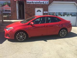 Used 2015 Toyota Corolla S Bluetooth Sunroof Leather Paddle Shift for sale in Bowmanville, ON