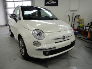 Used 2012 Fiat 500 Lounge,ROOF,WHITE ON RED,MINT for sale in North York, ON