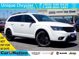 Used 2017 Dodge Journey SXT BLACKTOP| NAV| DVD| REMOTE START & MORE for sale in Burlington, ON