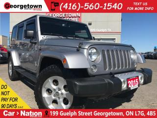 Used 2015 Jeep Wrangler Unlimited Sahara | NAVI | 1 OWNER | 2 TOPS | for sale in Georgetown, ON