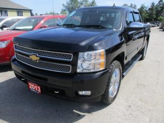 Used 2013 Chevrolet Silverado 1500 LOADED LTZ MODEL 5 PASSENGER 5.3L - V8.. 4X4.. CREW.. SHORTY.. LEATHER.. HEATED SEATS.. CD/AUX INPUT.. POWER SUNROOF.. for sale in Bradford, ON