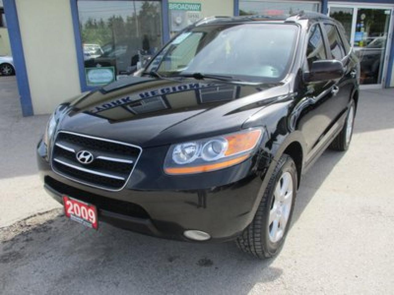 2009 Hyundai Santa Fe 'GREAT VALUE' LIMITED EDITION 5 PASSENGER 3.3L - V6.. AWD.. LEATHER.. HEATED SEATS.. CD/AUX/USB INPUT.. POWER SUNROOF..