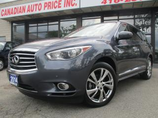 Used 2014 Infiniti QX60 AWD-NAV-LTHER-DVD-PANO-ROOF-360CAMERA-7 PASS for sale in Scarborough, ON
