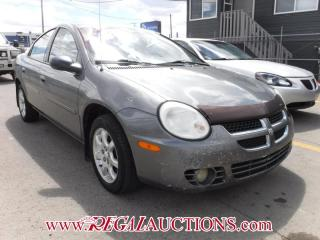 Used 2005 Dodge NEON SX 4D SEDAN for sale in Calgary, AB