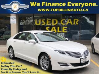 Used 2014 Lincoln MKZ with Navigation, Leather, Backup Camera for sale in Concord, ON