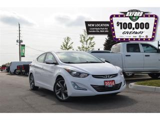 Used 2014 Hyundai Elantra Limited - GPS, sunroof, bluetooth, back up cam for sale in London, ON