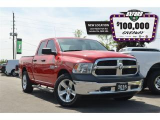 Used 2016 RAM 1500 SXT - HEMI, Quad Cab, bedliner, sat radio for sale in London, ON