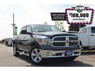 Used 2016 RAM 1500 SLT - Hemi, 4x4, bluetooth, back up cam, trailer h for sale in London, ON