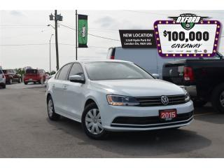 Used 2015 Volkswagen Jetta 2.0L - CD, bluetooth, back up cam, heated seats for sale in London, ON