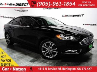Used 2017 Ford Fusion SE| LEATHER| BACK UP CAMERA| LOW KM'S| for sale in Burlington, ON