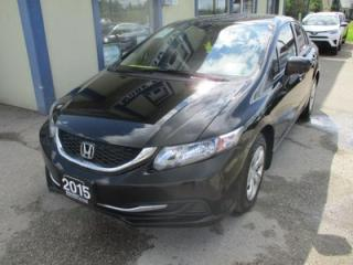 Used 2015 Honda Civic FUEL EFFICIENT LX MODEL 5 PASSENGER 1.8L - SOHC.. HEATED SEATS.. CD/AUX/USB INPUT.. BLUETOOTH.. BACK-UP CAMERA.. KEYLESS ENTRY.. for sale in Bradford, ON