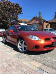 Used 2008 Mitsubishi Eclipse GS 2 DOOR SPORTY CAR, CERTIFIED, NEW TIRES for sale in Bradford, ON