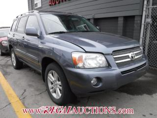Used 2006 Toyota HIGHLANDER LIMITED HYBRID 4D UTILITY V6 4WD for sale in Calgary, AB