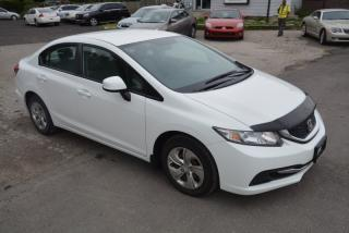 Used 2013 Honda Civic LX, manual, one owner, no accidents for sale in Hornby, ON