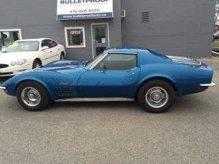 Used 1972 Chevrolet Corvette LT-1 , 4 speed manual, Canadian car for sale in Hornby, ON