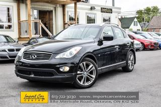 Used 2014 Infiniti QX50 AWD PREMIUM & NAVI PKG LEATHER ROOF LOW KMS!! for sale in Ottawa, ON