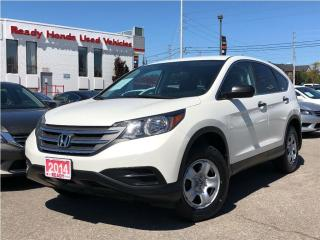 Used 2014 Honda CR-V LX - Back up Camera  Heated Seats for sale in Mississauga, ON
