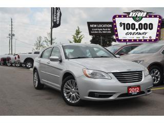Used 2012 Chrysler 200 Touring - Sunroof, GPS, Bluetooth, for sale in London, ON