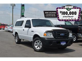 Used 2008 Ford Ranger Reg Cab, manual, 4x2, topper, cruise for sale in London, ON