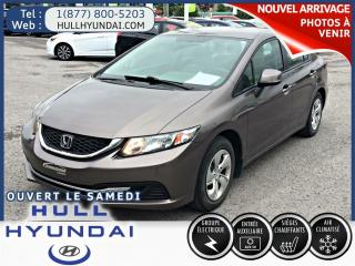 Used 2013 Honda Civic LX A/C for sale in Gatineau, QC