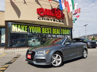 Used 2016 Audi A3 2.0T Technik NAVI RCAM W SNOWS ONLY 7800 KMS SLINE for sale in Scarborough, ON