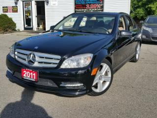 Used 2011 Mercedes-Benz C-Class Navi, 4 matic, back up camera, Bluetooth, for sale in Brampton, ON