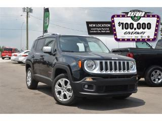Used 2017 Jeep Renegade Limited - 4x4, GPS, Bluetooth, Back Up Cam for sale in London, ON