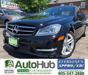 Used 2014 Mercedes-Benz C-Class C300-4 MATIC-LEATHER-SUNROOF-PARKING SENSORS for sale in Hamilton, ON