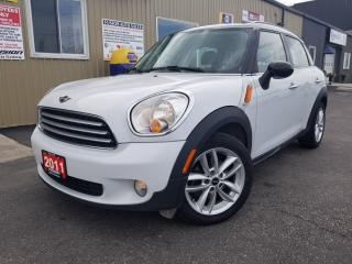 Used 2011 MINI Cooper Countryman LEATHER-PAN SUNROOF-ALLOY WHEEL-HEATED SEATS for sale in Tilbury, ON