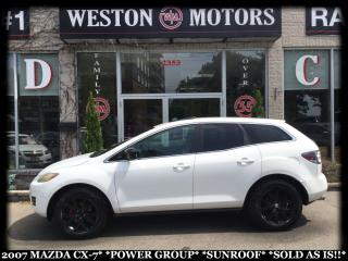 Used 2007 Mazda CX-7 POWER GROUP*SUNROOF*SOLD AS IS!!* for sale in York, ON
