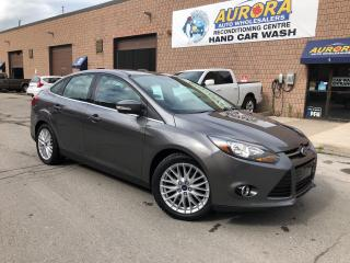 Used 2013 Ford Focus TITANIUM - LEATHER - SUNROOF - BACK UP CAM -ALLOYS for sale in Aurora, ON