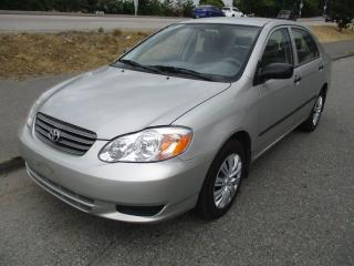 Used 2003 Toyota Corolla CE for sale in Surrey, BC