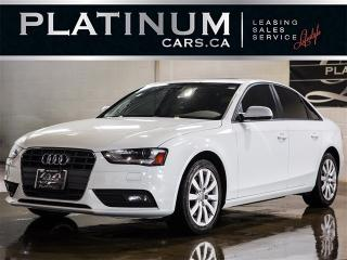 Used 2014 Audi A4 2.0T QUATTRO, KOMFORT, PWR LEATHER SEATS, SUNROOF for sale in North York, ON