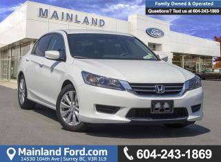 Used 2014 Honda Accord LX *LOCALLY DRIVEN* for sale in Surrey, BC