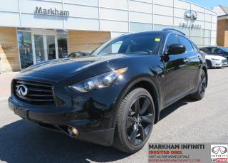 Used 2015 Infiniti QX70 Sport Tech, Leather, Sunroof, 360 Cam , Navi for sale in Unionville, ON