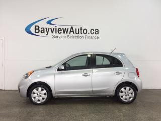 Used 2015 Nissan Micra SV - PURE DRIVE! AUTO! A/C! REVERSE CAM! BLUETOOTH! 8300KM! for sale in Belleville, ON