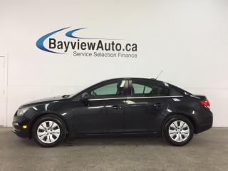 Used 2016 Chevrolet Cruze - TURBO! REM START! REVERSE CAM! ON STAR! MY LINK! for sale in Belleville, ON