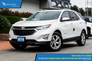 New 2018 Chevrolet Equinox LT Sunroof, Heated Seats, Power Seats, AWD, Turbo for sale in Port Coquitlam, BC