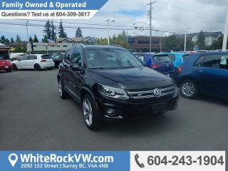 Used 2014 Volkswagen Tiguan Highline Memory Seat, Radio Data System, Leather Upholstery & Heated Front Seats for sale in Surrey, BC