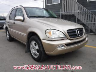 Used 2003 Mercedes-Benz M-CLASS ML350 4D UTILITY 4WD for sale in Calgary, AB