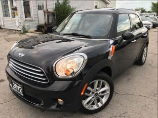 Used 2012 MINI Cooper Countryman Accident Free|Sunroof|Leather|Bluetooth for sale in Burlington, ON